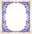 blue violet flowers frame isolated vector image vector image