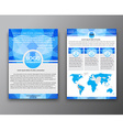 Brochure design with polygonal background vector image vector image