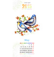 Calendar for 2015 may vector image