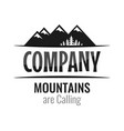 Caption mountains are calling and space for