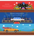 Cars Banners Set vector image vector image