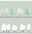 Cartoon winter trees vector image vector image