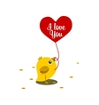 chicken eat grain Valentine day vector image