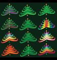 Christmas decorative tree symbol design
