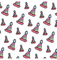 color party hat funny decoration background vector image