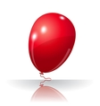 Colorful red balloon element for holiday vector image