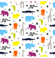 colorful zoo animal silhouettes vector image vector image