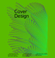 creative green background from abstract lines vector image