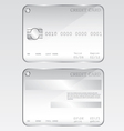 Credit card glass vector image vector image