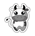 cute cow kawaii character vector image vector image