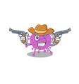 cute handsome cowboy avian coronavirus cartoon vector image vector image