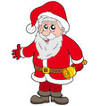 cute santa claus with bell vector image