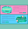 discount 45 off summer sale advertisement label vector image vector image
