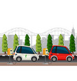 electric cars charging scene vector image