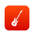 electric guitar icon digital red vector image vector image