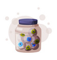 eyeballs in glass jar occult magic objects vector image