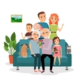 Family on sofa vector image