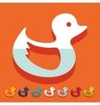 Flat design duck vector image vector image