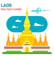 Flat design Pha That Luang vector image vector image