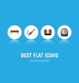flat icon electronics set of coil copper bobbin vector image vector image