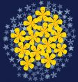 flower on snow vector image
