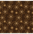 Flower seamless pattern golden color vector image