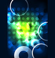 glowing circles in the dark vector image vector image