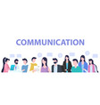 group people cartoon man woman communication vector image vector image