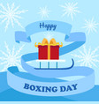 happy boxing day concept background flat style vector image