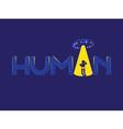 Human UFO logo vector image