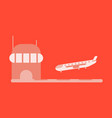 icon in flat design for airport plane landing vector image vector image