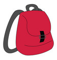 image backpack or color vector image