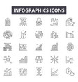 infographic line icons for web and mobile design vector image vector image