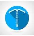 IUD round flat icon vector image