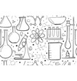laboratory equipment sketch seamless pattern vector image
