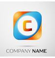 Letter C logo symbol in the colorful square on vector image vector image