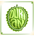 logo for durian vector image