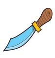 machete clipart color on a white background vector image vector image
