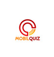 mobil quiz letter q icon vector image vector image