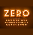 neon light 3d alphabet extra glowing modern type