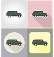 old retro transport flat icons 10 vector image vector image