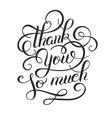 original modern calligraphy thank you so mutch vector image vector image