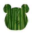 Panda Head Silhouette vector image