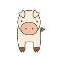 Pig cartoon icon Animal farm design vector image