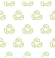recycle outline green symbol pattern seamless vector image vector image