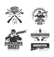 Retro weapons shooting labels emblems vector image vector image