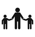 school children help senior man icon simple style vector image vector image