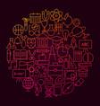school line icon circle concept vector image vector image