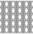 Seamless black and white cubes vector image vector image