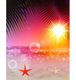 seascape and sunset1 vector image vector image